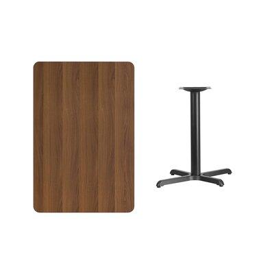 "Kaden Rectangular Laminate Dining Table Color: Walnut, Size: 31.13"" H x 42"" L x 24"" W"