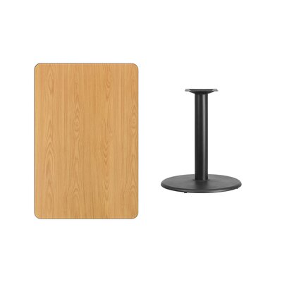 """Mayton Laminate Dining Table Color: Natural, Size: 31.13"""" H x 42"""" L x 24"""" W"""