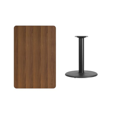 "Mayton Laminate Dining Table Color: Walnut, Size: 31.13"" H x 42"" L x 24"" W"