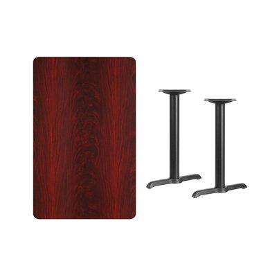"Adelina Rectangular Laminate Dining Table Color: Mahogany, Size: 31.13"" H x 42"" L x 30"" W"