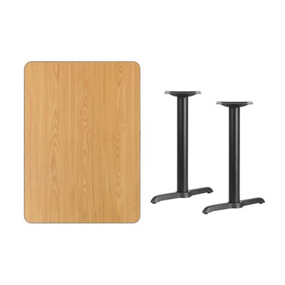 """Adelina Rectangular Laminate Dining Table Color: Natural, Size: 31.13"""" H x 48"""" L x 30"""" W"""