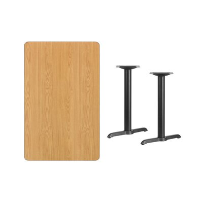 """Adelina Rectangular Laminate Dining Table Color: Natural, Size: 31.13"""" H x 42"""" L x 30"""" W"""