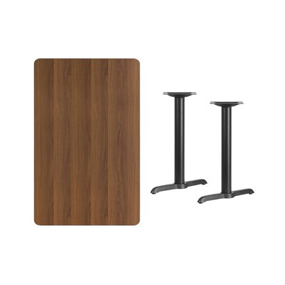 """Adelina Rectangular Laminate Dining Table Color: Walnut, Size: 31.13"""" H x 42"""" L x 30"""" W"""