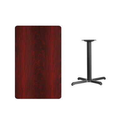 "Kaden Rectangular Laminate Dining Table Color: Mahogany, Size: 31.13"" H x 42"" L x 30"" W"