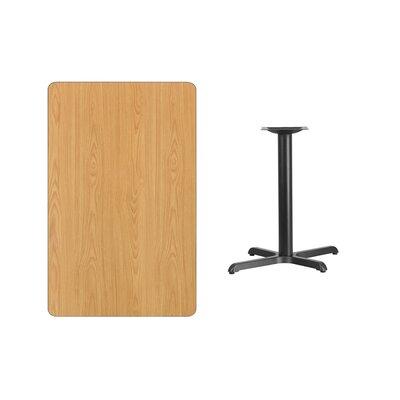 "Kaden Rectangular Laminate Dining Table Color: Natural, Size: 31.13"" H x 42"" L x 30"" W"