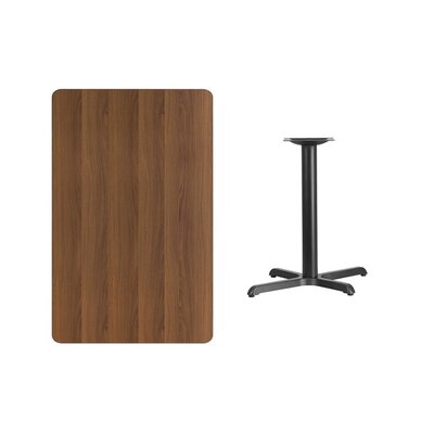 "Kaden Rectangular Laminate Dining Table Color: Walnut, Size: 31.13"" H x 45"" L x 30"" W"