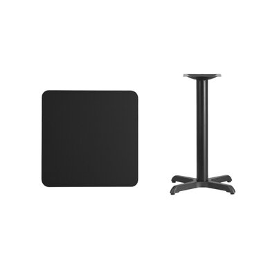 "Mazza Laminate Dining Table Color: Black, Size: 31.13"" H x 24"" L x 24"" W"