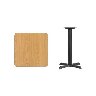 "Mazza Laminate Dining Table Color: Natural, Size: 31.13"" H x 24"" L x 24"" W"
