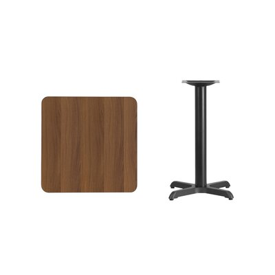 "Mazza Laminate Dining Table Color: Walnut, Size: 31.13"" H x 24"" L x 24"" W"
