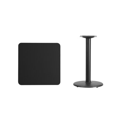 """Mazzola Laminate Dining Table Color: Black, Size: 31.13"""" H x 24"""" L x 24"""" W"""