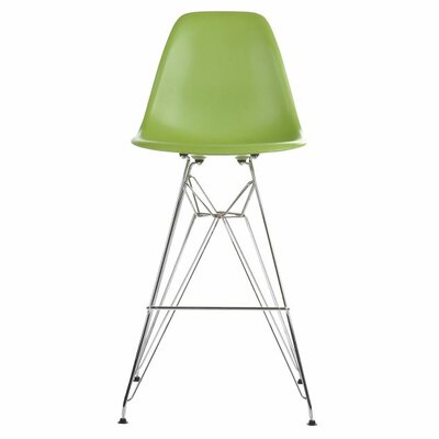 Hadsell Mid-Century 27.5'' Bar Stool Color: Green