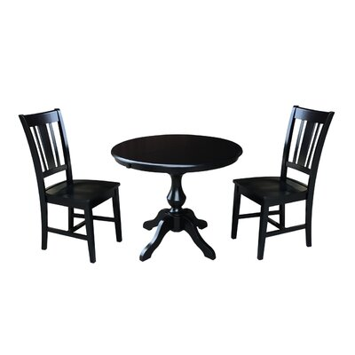 Sylvester 3 Piece Extendable Dining Set Color: Black