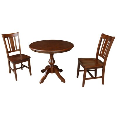 Sylvester 3 Piece Extendable Dining Set Color: Espresso