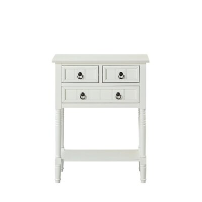Ximena Console Table Color: White
