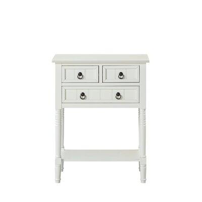 Ximena Console Table Color: White