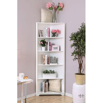 Harvill Corner Unit Bookcase Color: White