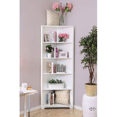 Harvill Corner Unit Bookcase Color: White