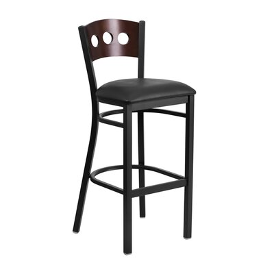 "Maurice 32"" Bar Stool Color: Black"
