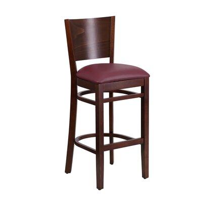 """Mauer 31.5"""" Bar Stool Color: Brown/Mahogany"""