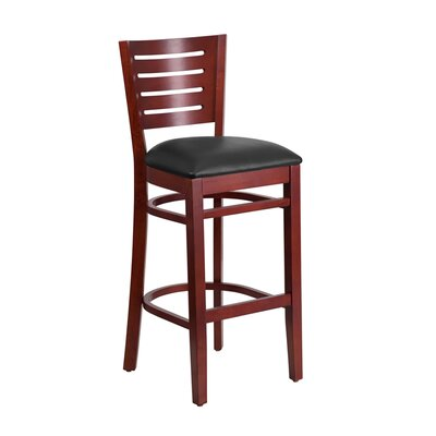 "Mauer 31.5"" Bar Stool Color: Black/Mahogany"