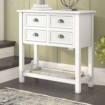 Pfeffer Wood 4 Drawer Accent Cabinet Color: Milky White