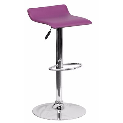 Joshua Adjustable Height Swivel Bar Stool Color: Purple