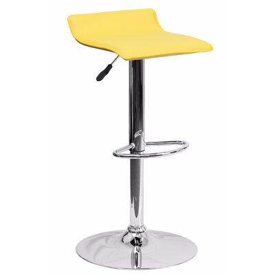 Joshua Adjustable Height Swivel Bar Stool Color: Yellow