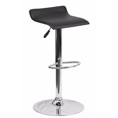 Joshua Adjustable Height Swivel Bar Stool Color: Black