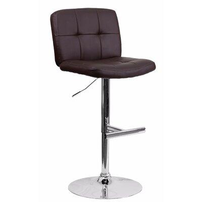 Reuben Adjustable Height Swivel Bar Stool Color: Brown