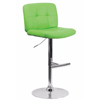 Reuben Adjustable Height Swivel Bar Stool Color: Green