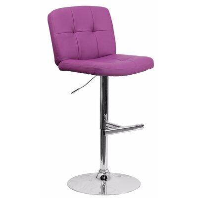 Reuben Adjustable Height Swivel Bar Stool Color: Purple