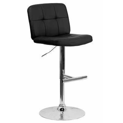 Reuben Adjustable Height Swivel Bar Stool Color: Black
