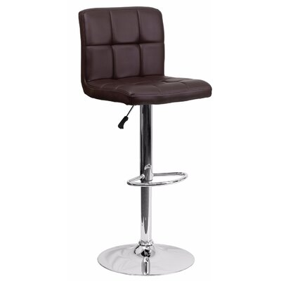 Cyrus Adjustable Height Swivel Bar Stool Color: Brown