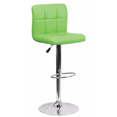 Cyrus Adjustable Height Swivel Bar Stool Color: Green
