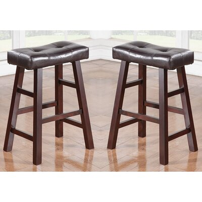 "Kaley 24"" Bar Stool Color: Brown"