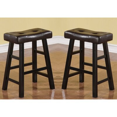 "Kaley 24"" Bar Stool Color: Black"