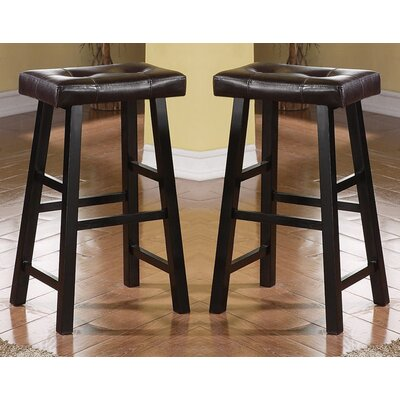 "Abbigail 29"" Bar Stool Color: Brown"