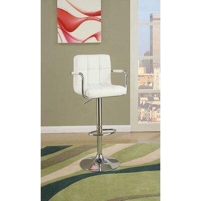 Sigourney Adjustable Swivel Bar Stool Color: White