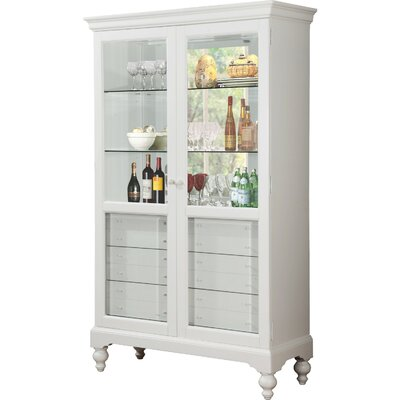 Paquette Wood Curio 6 Drawer Accent Cabinet