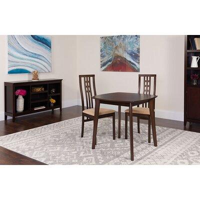 Skipworth 3 Piece Dining Set Chair Color: Brown, Table Color: Espresso