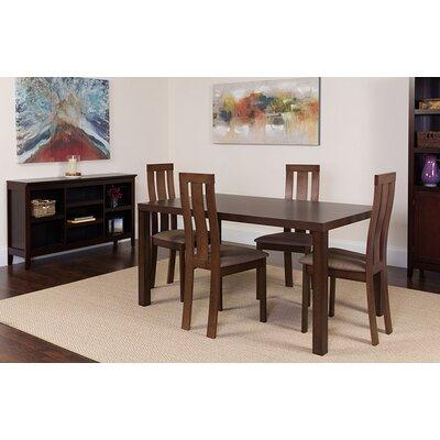 Snediker 5 Piece Dining Set Chair Color: Brown, Table Color: Espresso