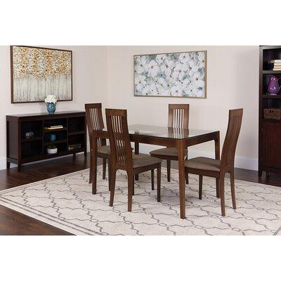 Smoak 5 Piece Dining Set Chair Color: Brown, Table Color: Espresso