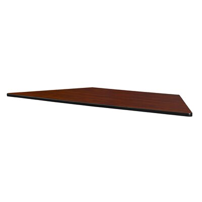 """Sonny 72"""" x 30"""" Standard Trapezoid Table Top Finish: Cherry/Maple, Size: 1"""" H x 60"""" W x 30"""" D"""