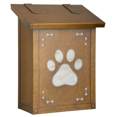 Dog Paw Wall Mounted Mailbox Post Color: Wispy White, Mailbox Color: Warm Brass