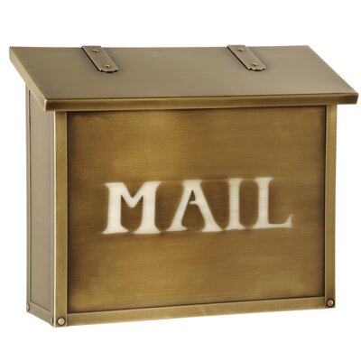 Classic Wall Mounted Mailbox Post Color: Honey, Mailbox Color: New Verde