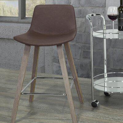 Moreland Bar Stool Upholstery: Brown