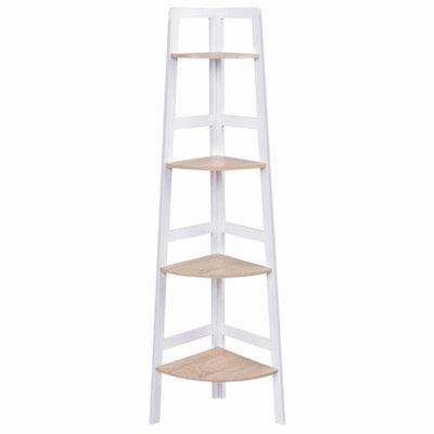 Call 4-Tier Wood Ladder Wall Display Corner Unit