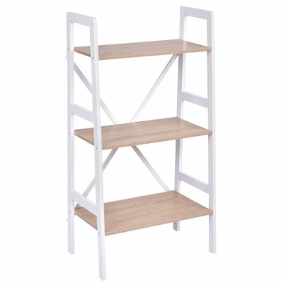 Calloway 3 Tier Ladder Storage Shelves Bookcase