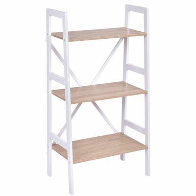 Calloway 3 Tier Ladder Storage Shelves Bookcase