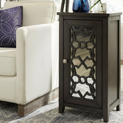 Capps 1 Door Mirrored Accent Cabinet